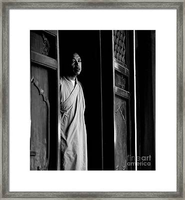 Portrait Of A Shaolin Monk Framed Print by Dean Harte