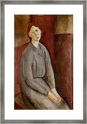 Portrait Of Annie Bjarne Framed Print by Amedeo Modigliani