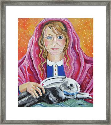 Portrait Of Ashley Framed Print by John Keaton