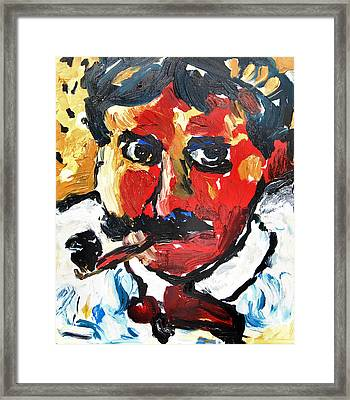 Portrait Of Derain After Vlaminck Framed Print by Alexandra Jordankova