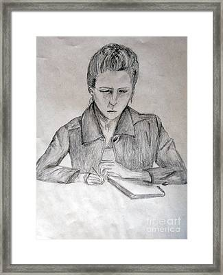 Portrait Of Haley Golz Framed Print by Jana Barros