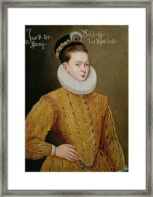 Portrait Of James I Of England And James Vi Of Scotland  Framed Print by Adrian Vanson