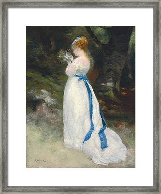 Portrait Of Lise   Framed Print by Pierre Auguste Renoir