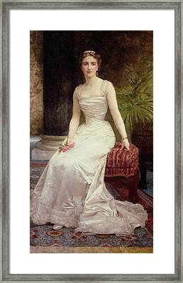 Portrait Of Madame Olry-roederer Framed Print by William-Adolphe Bouguereau