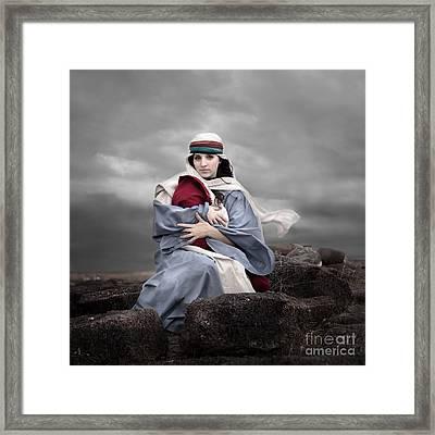 Portrait Of Mary Framed Print by Cindy Singleton