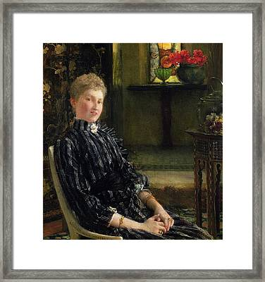Portrait Of Mrs Ralph Sneyd Framed Print by Sir Lawrence Alma-Tadema