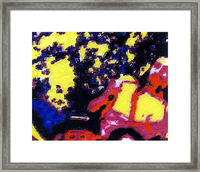 Portrait Of The Artist As A Young Leftfielder Framed Print by Phil Strang