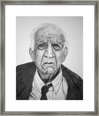 Portrait Of Wall Street Framed Print by Kenny Chaffin