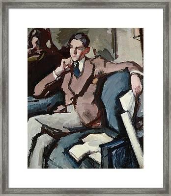 Portrait Of Willie Peploe Framed Print by Samuel John Peploe