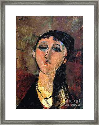 Portrait Of Young Girl  Louise Framed Print by Pg Reproductions