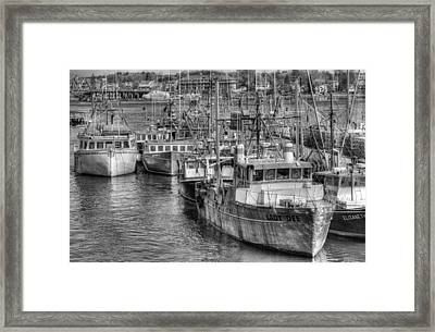 Portsmouth Fishing Fleet Framed Print by Ron St Jean