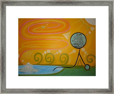 Positive Pondering Framed Print by Cory Green