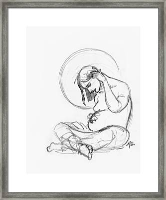 Post Annunciation Framed Print by Miguel De Angel