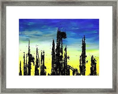 Post Apocalyptic Skyline 2 Framed Print by Jera Sky