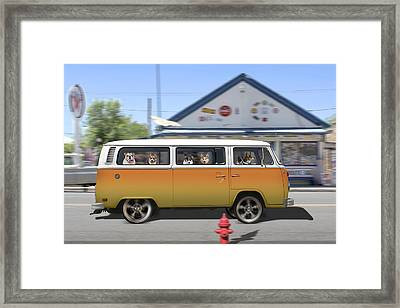 Postcards From Otis - Road Trip  Framed Print by Mike McGlothlen