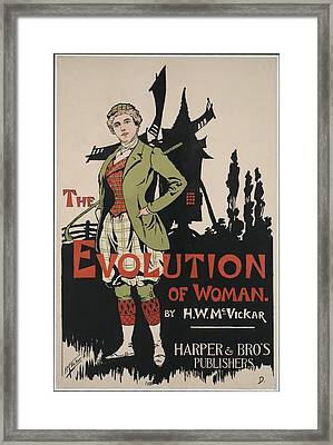 Poster Advertising The Evolution Of Framed Print by Everett