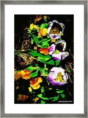 Poster Girls Framed Print by Diane montana Jansson