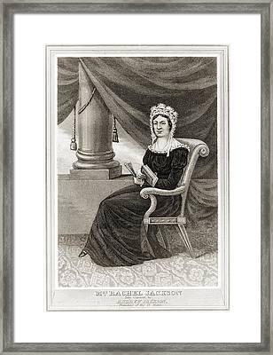 Posthumous Popular Print Of Rachel Framed Print by Everett