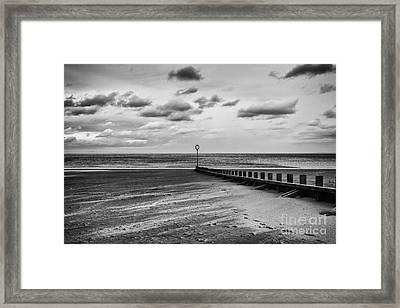 Potobello Beach And Drifting Sands Framed Print by John Farnan
