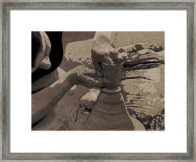 Potter In Simple Toon Style Framed Print by James Stanfield