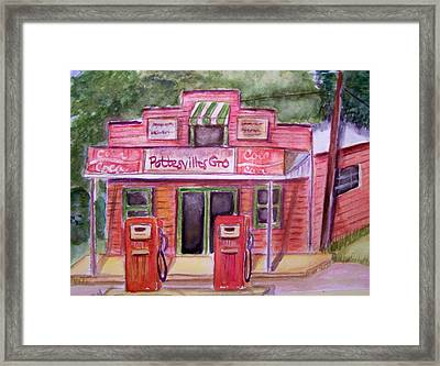 Pottesville Gro. Framed Print by Belinda Lawson