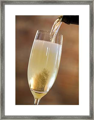 Pouring Champagne Framed Print by Datacraft Co Ltd