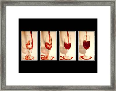 Pouring Red Wine Framed Print by Svetlana Sewell