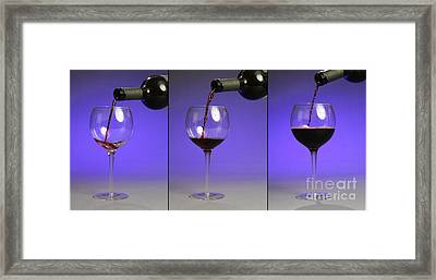 Pouring Wine Framed Print by Photo Researchers, Inc.