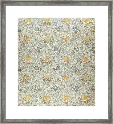 Powdered Framed Print by Wiliam Morris