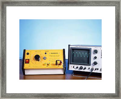 Power Supply Experiment Framed Print by Andrew Lambert Photography