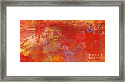 Powerless- I Watched Him Toss Her Into The Street And The Ladies Laughed Framed Print by Fania Simon