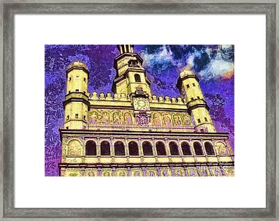 Poznan City Hall Framed Print by Mo T