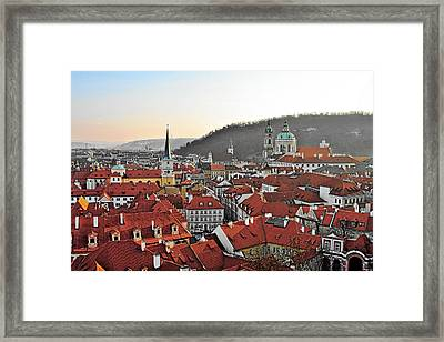Prague - A Story Told By Rooftops Framed Print by Christine Till