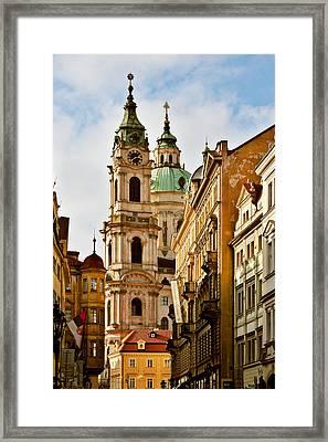 Prague - St. Nicholas Church Lesser Town Framed Print by Christine Till