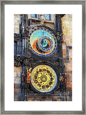 Prague Astronomical Clock 2 Framed Print by Mariola Bitner