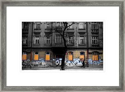 Prague Street Framed Print by Mark Britten