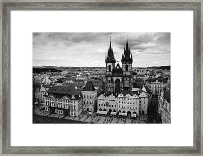 Prague Tyn Church Framed Print by Matthias Hauser