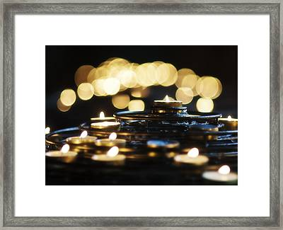 Prayer Candles Framed Print by Beth Riser