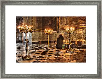 Prayer Framed Print by Okan YILMAZ