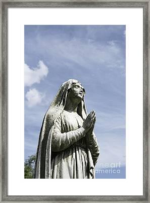 Praying In The Sky.01 Framed Print by John Turek