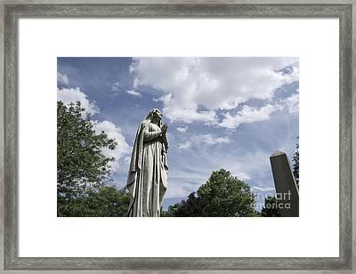 Praying In The Sky.02 Framed Print by John Turek