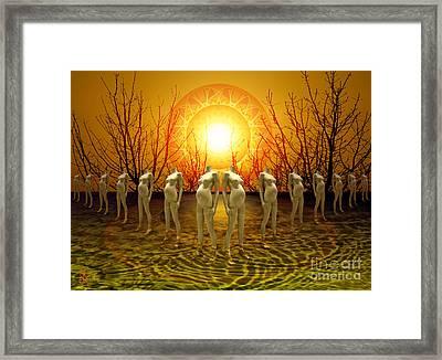 Pregnant Sun Framed Print by Rosa Cobos