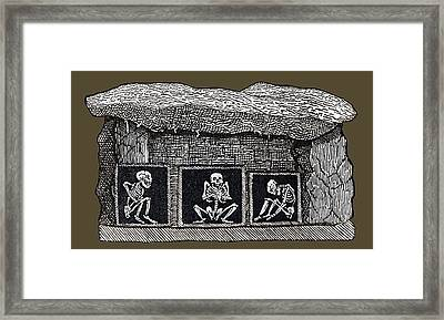 Prehistoric Tomb, Sweden Framed Print by Sheila Terry