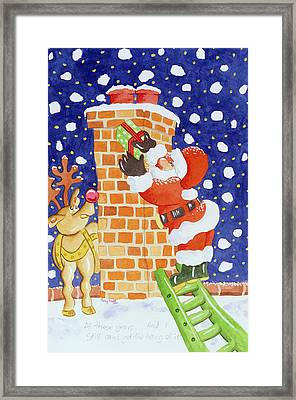 Present From Santa Framed Print by Tony Todd