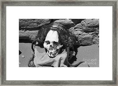 Preserved Remains In Nazca Framed Print by Darcy Michaelchuk