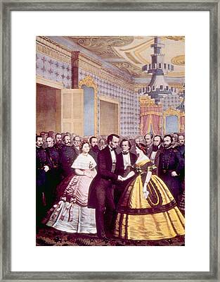 President Abraham Lincoln And First Framed Print by Everett