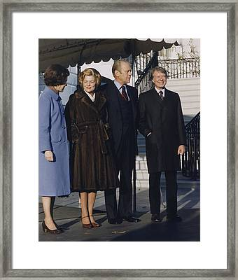 President And Betty Ford Framed Print by Everett