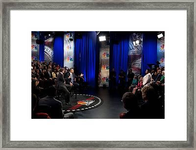 President Barack Obama Participates Framed Print by Everett