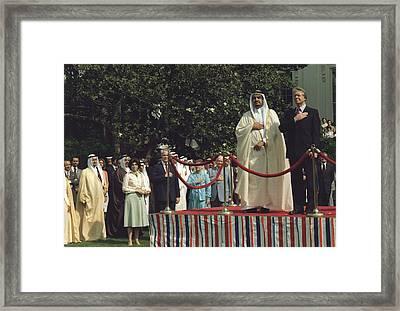 President Carter And Prince Fahd Bin Framed Print by Everett