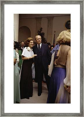 President Ford And First Lady Betty Framed Print by Everett